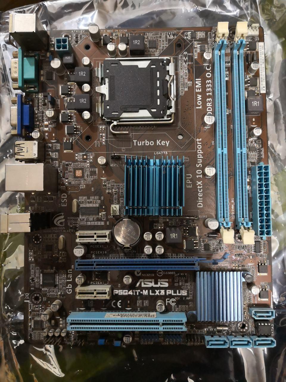 Материнская плата ASUS P5G41T-M LX3 PLUS Intel G41, s775 б/у