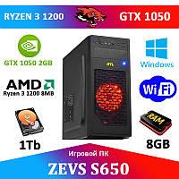 Игровой ПК ZEVS PC S650 Ryzen 3 3100 + GTX 1050 2GB +Игры!
