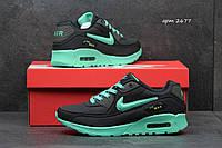 Женские кроссовки Nike Air Max черные 2677 (жіночі взуття спортивне обувь  спортивная) b7d8a9d58fad8