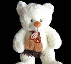На подарунок плюшевий Ведмедик 58 см в шарфі іграшка м'яка з якісних матеріалів