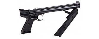 """Пистолет пневматический Crosman""""P1377 American Classic"""" кал.4,5 / Мультикомпрессионный пистолет черного цвета"""