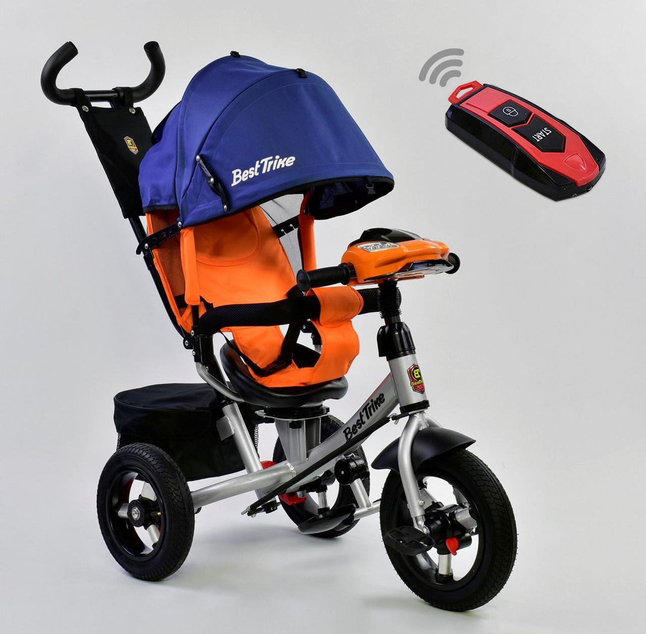 Bелосипед трехколесный Best Trike 7700 В - 1280 с надувными колесами Синий 75101