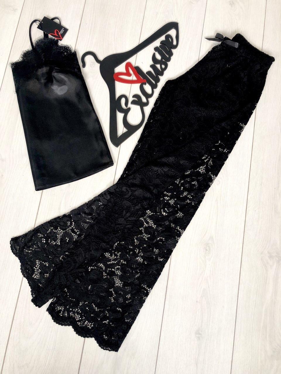 Кружевные штаны+майка - женский комплект 087.