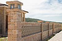 Бетонный забор из блоков «Patio»
