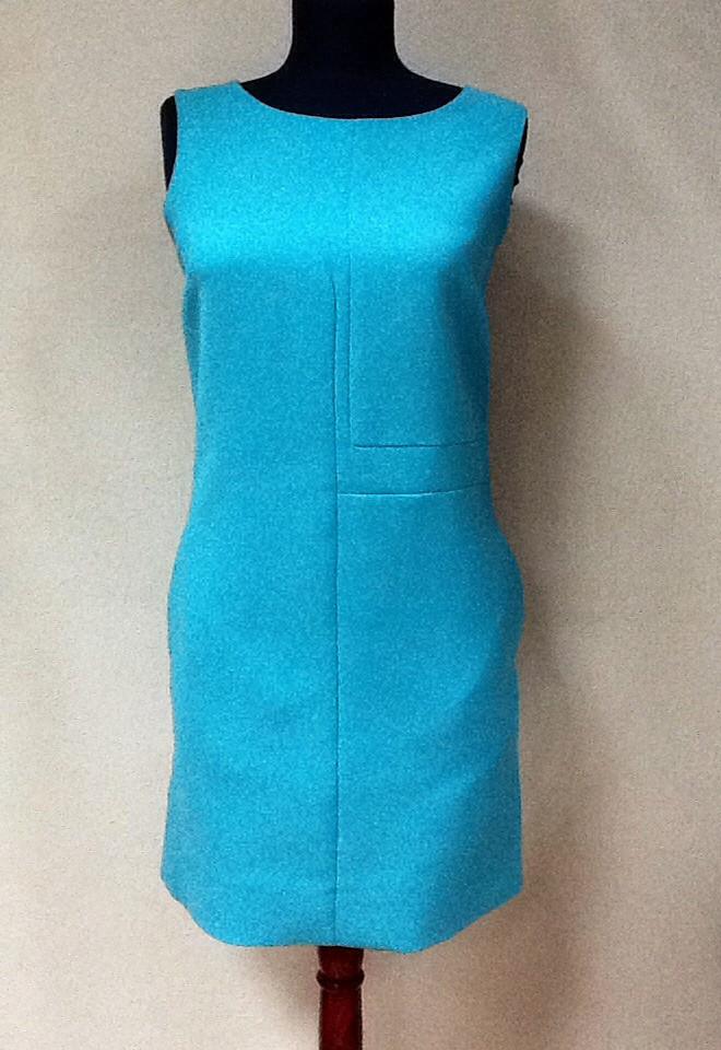 Платье Fendi бирюзовое без рукава