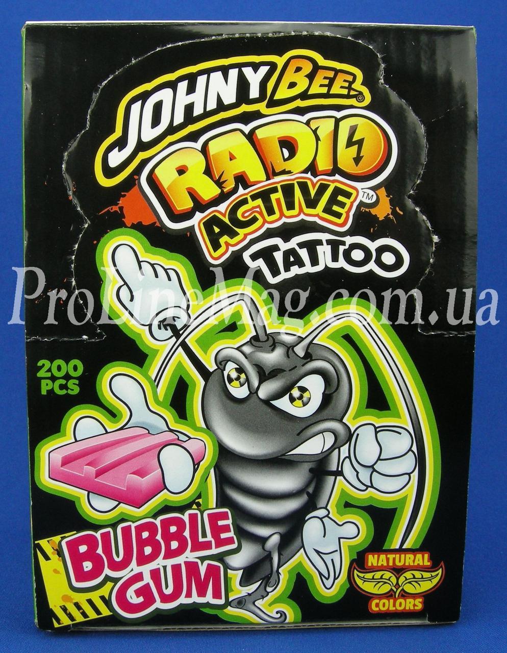 Жевательная резинка JOHNY BEE® RADIO ACTIV Tattoo GUM