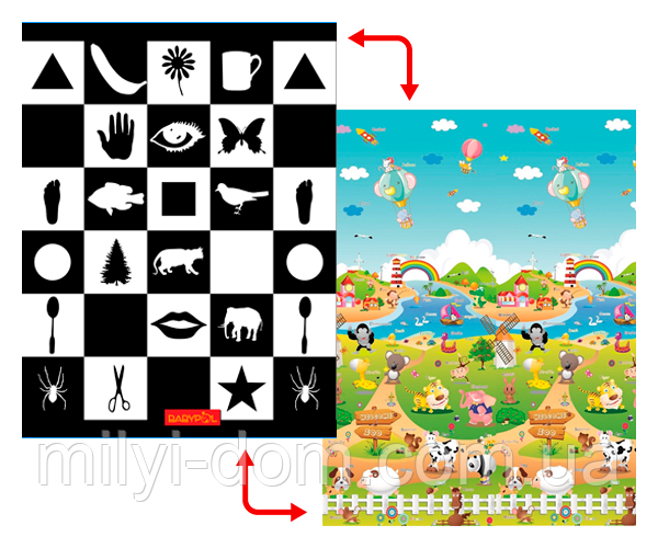 """Дитячий розвиваючий килимок """"Доман/ферма"""", 1.5х1,8 м"""