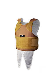 Жилет U.S.Armor XP Regular (L) Tan + металлические пластины песочного цвета