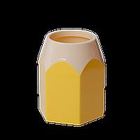 Пластиковая подставка для ручек zibi zb.3004-08 желтая Карандаш kids line