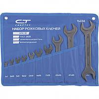 Набор ключей рожковых, 6-32 мм, 10 шт, CrV, фосфатированные, ГОСТ 2839, СИБРТЕХ