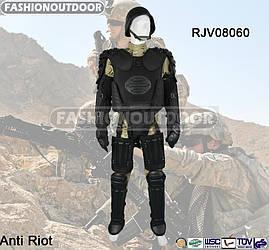 Противоударный защитный костюм Fashion Outdoor Military черного цвета