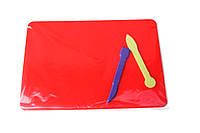 Доска для лепки пластилина + 2 ножика