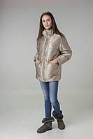 Куртка женская цвета бежевое золото Alberto Bini 6005
