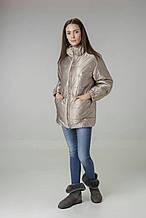 Куртка женская цвета бежевое золото Alberto Bini 6005 40 размер