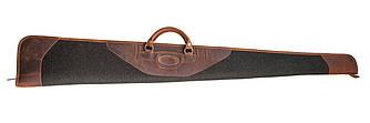 Чехол для гладкоствольного ружья из кожи и плотной шерсти Artipel коричневого цвета
