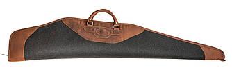 Чехол для карабина с оптикой из кожи и плотной шерсти Artipel коричневого цвета / водонепроницаемый