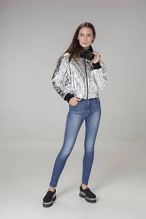 Пальто-трансформер женское серебристо-черное Alberto Bini 6018, фото 2