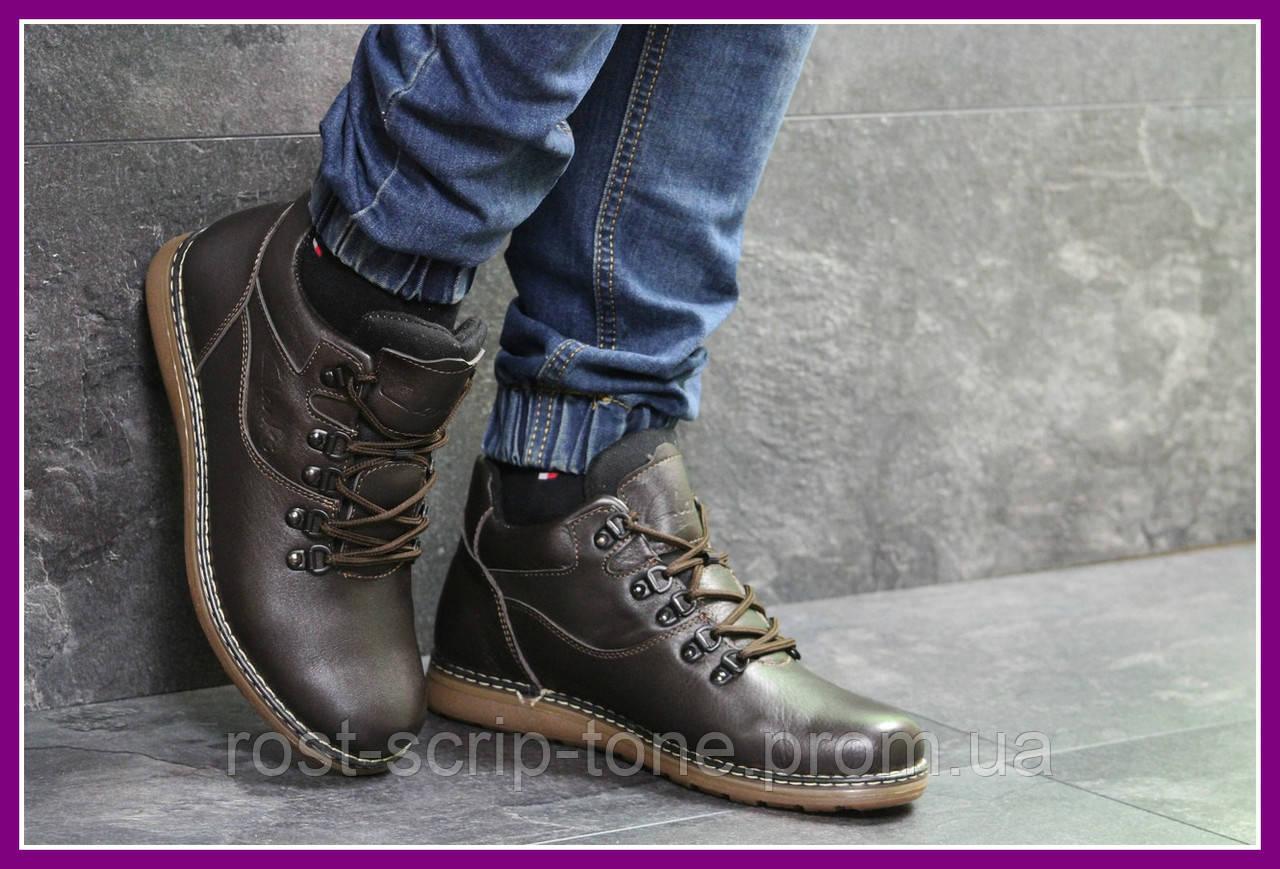 abe8efea Мужские ботинки зимние коричневые Clarks 6992 (чоловічі ботінки взуття  молодежные модная зимові)