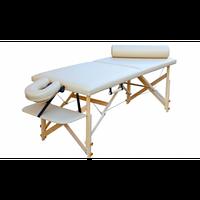 Масажний стіл переносний Біла церква дерев'яна з підголовником і переднім підлокітником ширина 68 см