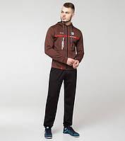 Спортивный мужской костюм Bikk  коричневый-красный, фото 1