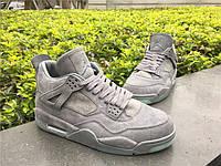 """Кроссовки Nike Air Jordan 4 x KAWS """"Cool Grey"""" реплика"""