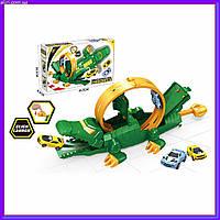 Детский игровой трек Волшебная сцена крокодила 2 машинки в комплекте P885-A