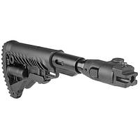 Приклад складной FAB M4 с амортизатором для AK 47, полимер / Приклад оружейный черного цвета
