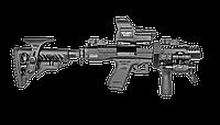 Приклад складной FAB для M16\AR16, регулируемая щека / Приклад оружейный черного цвета