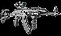 Приклад складной FAB для M4, с амортизатором, регулируемая щека / Приклад оружейный черного цвета