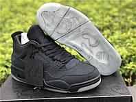 """Кроссовки Nike Air Jordan 4 x KAWS """"Black"""" реплика"""