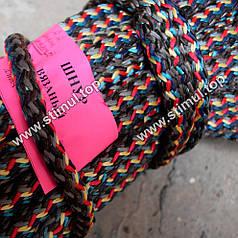 Шнур вязаный полипропиленовый Ø 6 мм - канат хозяйственный плетеный - веревка