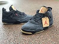 "Кроссовки Nike Air Jordan 4 ""Black Denim"" реплика"