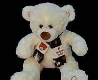 Практичный подарок на День Святого Валентина плюшевый Медведь 58 см в шарфе