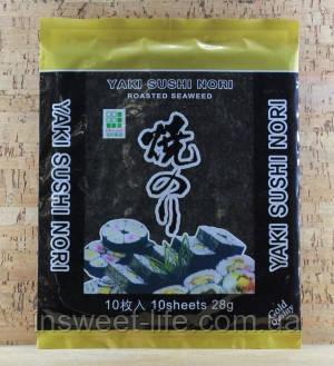 Нори Gold для приготовления суши 10 листов 12х28г/упаковка