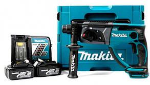 Аккумуляторный перфоратор Makita DHR202RFJ + 2 акб 18 V 3 Ah + з/у + MakPac