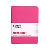 Книга записная Axent Partner Mini, 115*160, 80л, кл, роз гибкая, фото 1