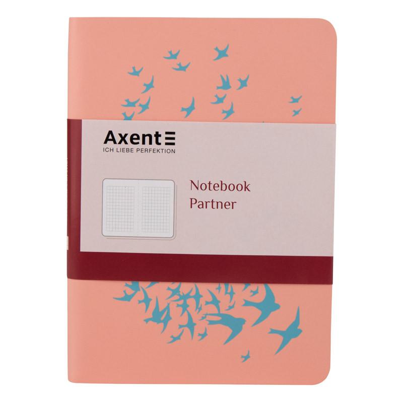 Книга записная Axent  Partner Soft Mini Birds, 115*160, 80л гибкая
