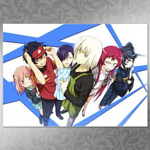 Плакат Аниме Hataraku Maou-Sama! 02