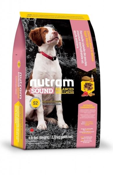 S2 Nutram Sound Balanced Wellness Natural Puppy Food Для щенков с курицей и цельными яйцами