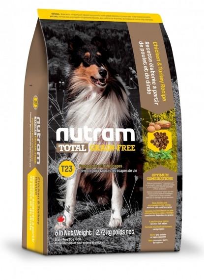 T23 Nutram Total Grain-Free Turkey, Chiken & Duck Dog Food Для всех жизненных стадий с индейкой и курицей