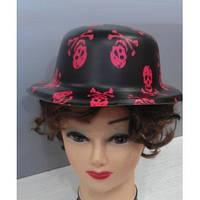 Шляпы котелки с черепами ( пластиковые )