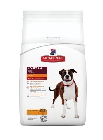 Сухой корм Hills (Хиллс) Canine Adult Light (курица) - облегченный корм для взрослых собак