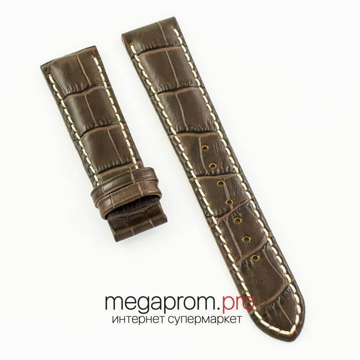 Универсальный кожаный ремешок для часов 21 мм brown (07218)