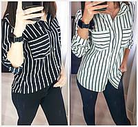 Стильная женская рубашка в полоску 18002, фото 1