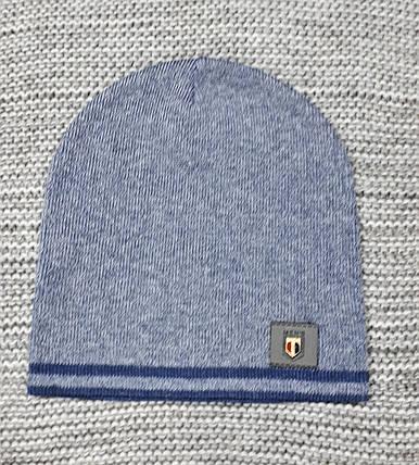 Шапка на мальчика весна-осень синяя ANPA (Польша) размер 46 48 50, фото 2