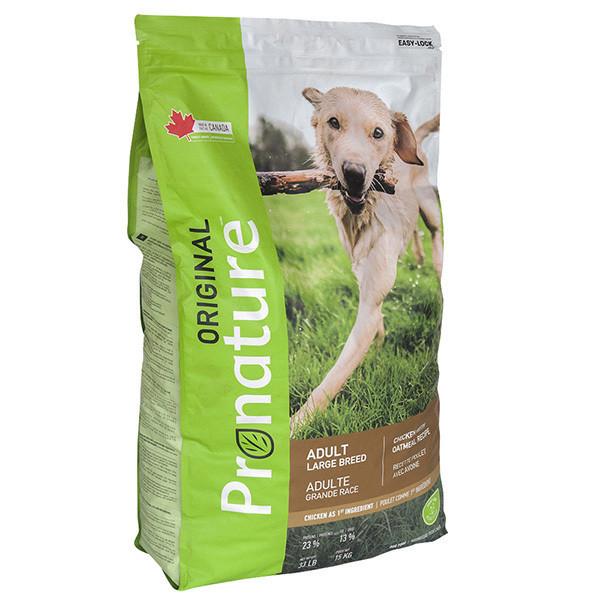 Pronature Original Dog Chicken Oatmeal ПРОНАТЮР ОРИДЖИНАЛ ДОГ КУРИЦА ОВСЯНАЯ МУКА корм для собак крупных пород