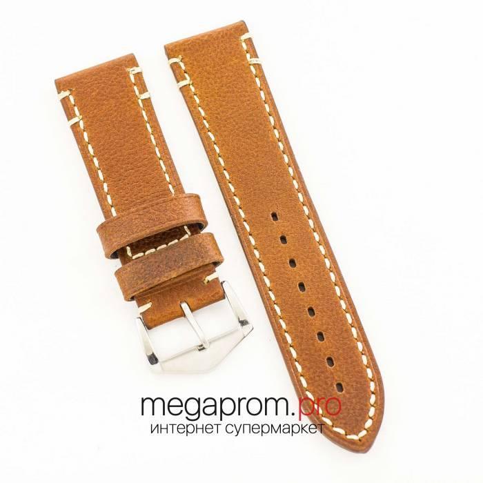 Универсальный кожаный ремешок для часов brown 20мм, 22мм, 24мм (07320)