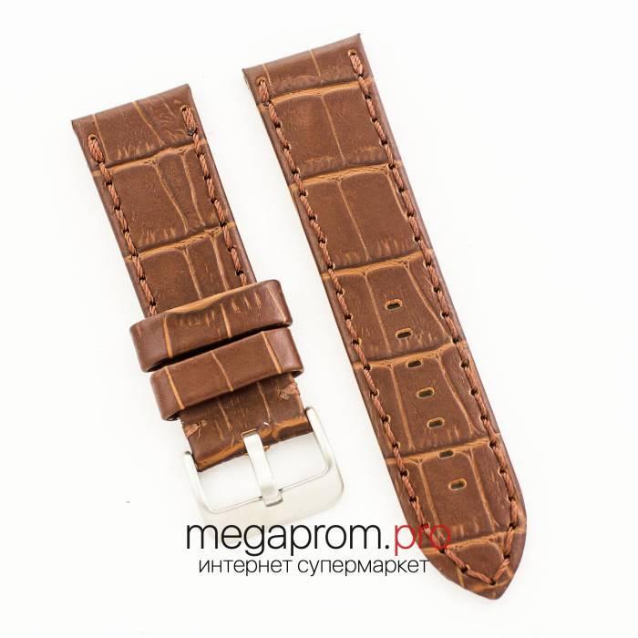 Универсальный кожаный ремешок для часов brown 20мм, 22мм, 24мм (07325)