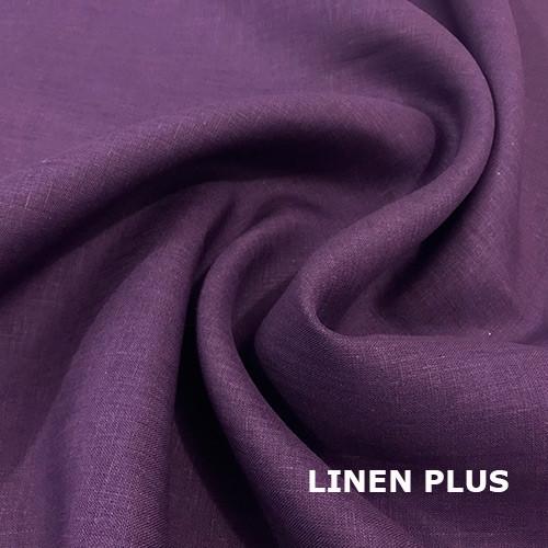 Фіолетова лляна тканина 100% льон колір 1192