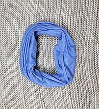 Комплект шапка + хомут  на мальчика весна-осень синяя Fido (Польша) размер 46 48 50, фото 3